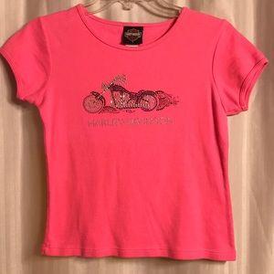 Harley Davidson Women's Pink Top, Size S